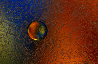 Lonely Planet: An Abstract in Oil & Water