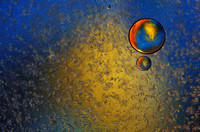 Rainbow Planet: An Abstract in Oil & Water
